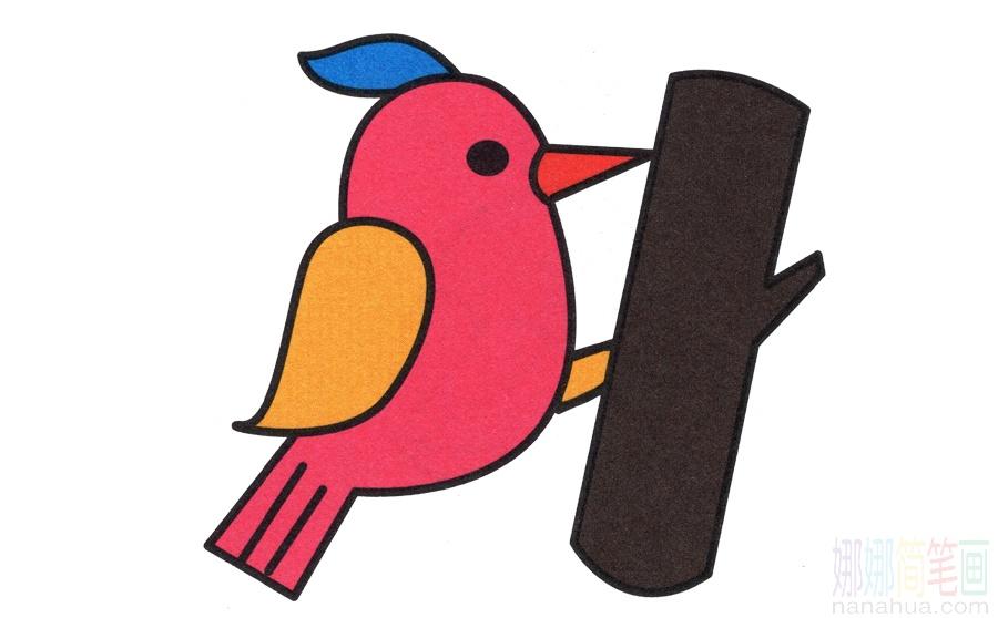 啄木鸟的画法
