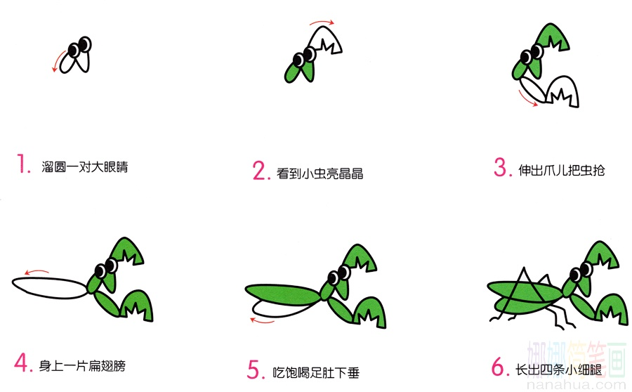 小螳螂的画法