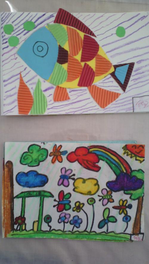 小学创意儿童画手工简笔画创意手工作品