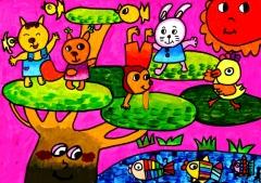 新型冠状病毒儿童画