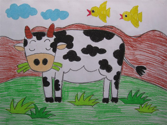 五年级优秀儿童画作品/儿童简笔画大全