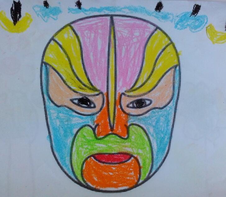 戏曲脸谱儿童画作品展示