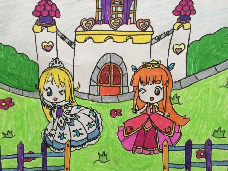 公主兒童畫城堡