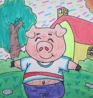 新年儿童画作品,2019猪年最新儿童绘画/儿童简笔画大全图片