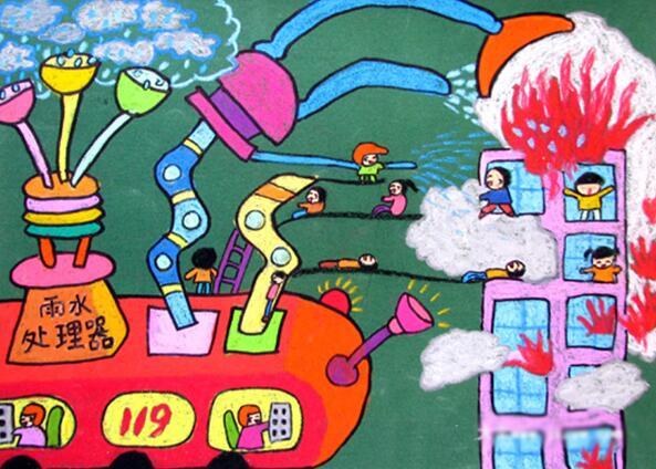普及消防安全知识儿童画画大全