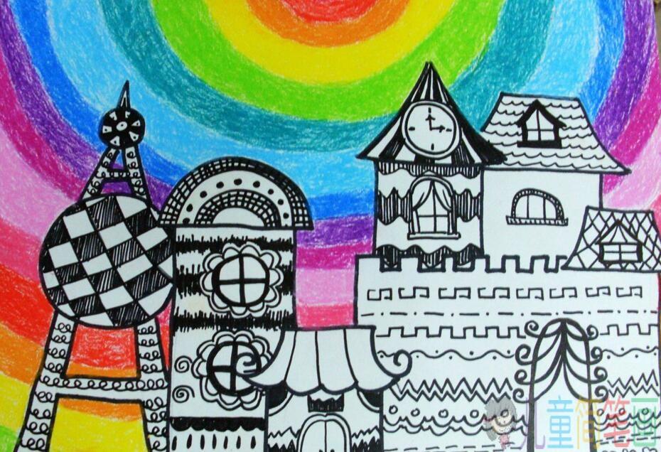 童话故事中的城堡儿童画图片/儿童简笔画大全
