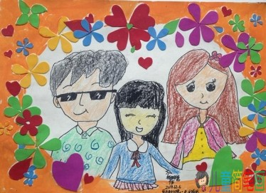 幼儿画幸福快乐的一家人图片/儿童简笔画大全