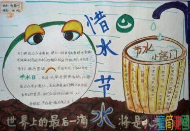 关于保护水资源的手抄报