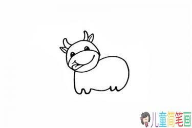 彩色奶牛简笔画的画法步骤