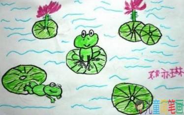 小青蛙简笔画图片大全-小鸭子儿童乐园littleducks
