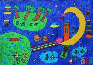 关于宇宙太空的儿童画