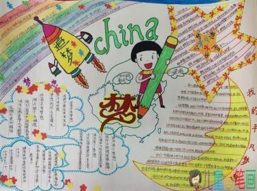 以中国梦我的梦为主题的手抄报图片