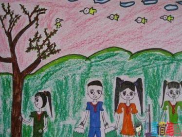 有关抗战胜利的儿童画_关于植树节的儿童画图片大全/第3页/儿童简笔画图片大全