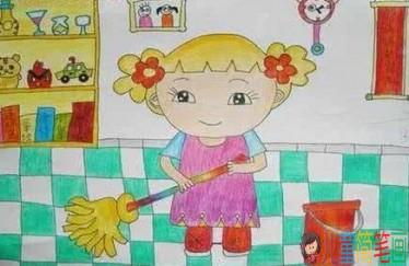 简笔画妈妈简单又好看_帮妈妈做家务的儿童画图片/儿童简笔画