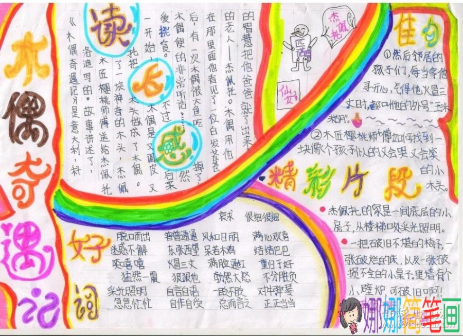 关于真爱和平的儿童画_童话故事手抄报-木偶奇遇记/儿童简笔画