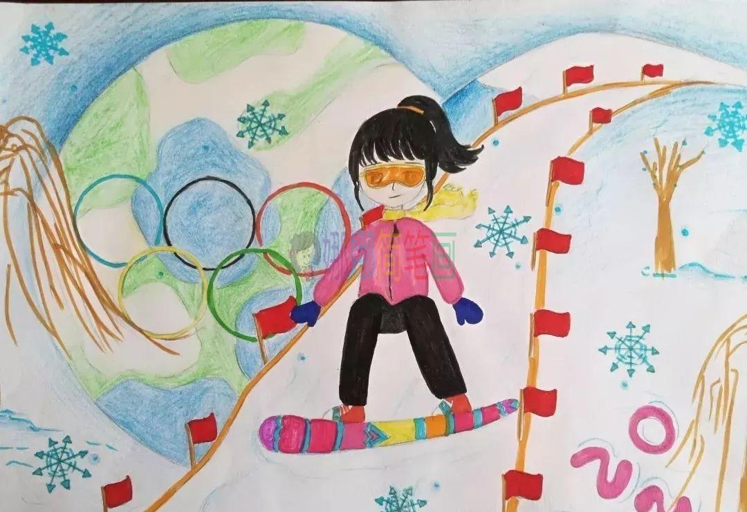 2022冬奥会儿童绘画作品