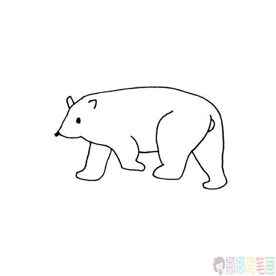 北极熊的简笔画法