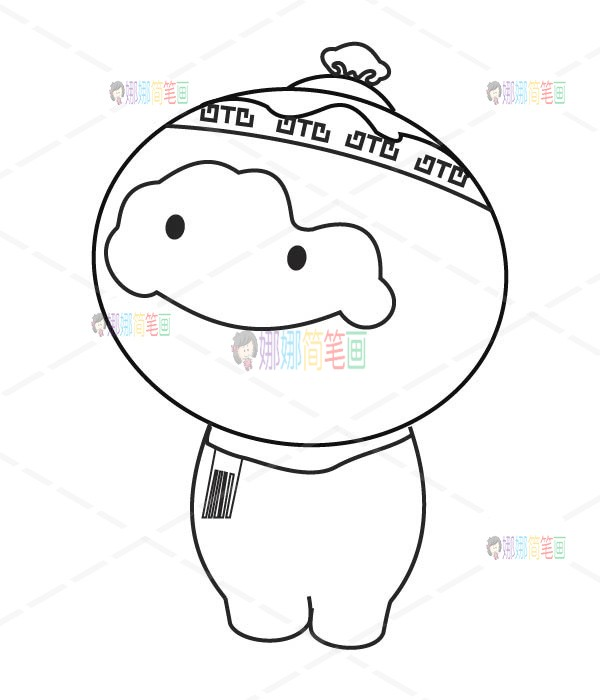 冬奥会吉祥物怎么画,2022冬奥会儿童简笔画