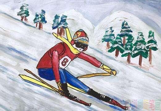 2022冬奥会儿童绘画优秀作品图片