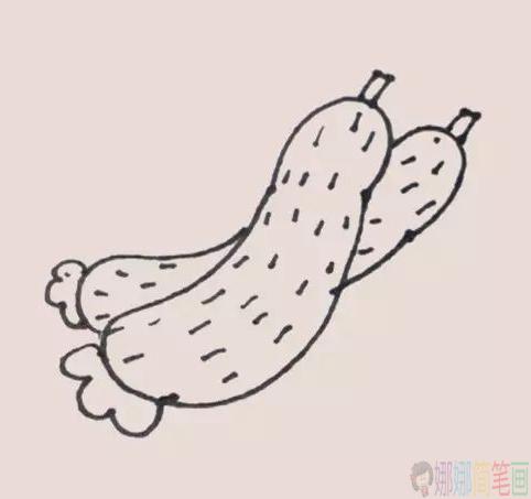 黄瓜怎么画,黄瓜简笔画图片