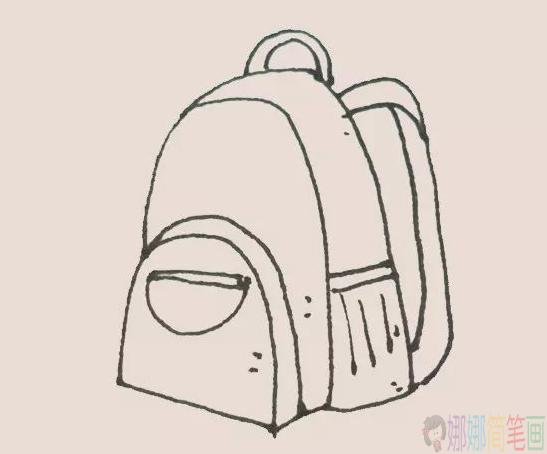 小学生书包的画法,书包简笔画教程