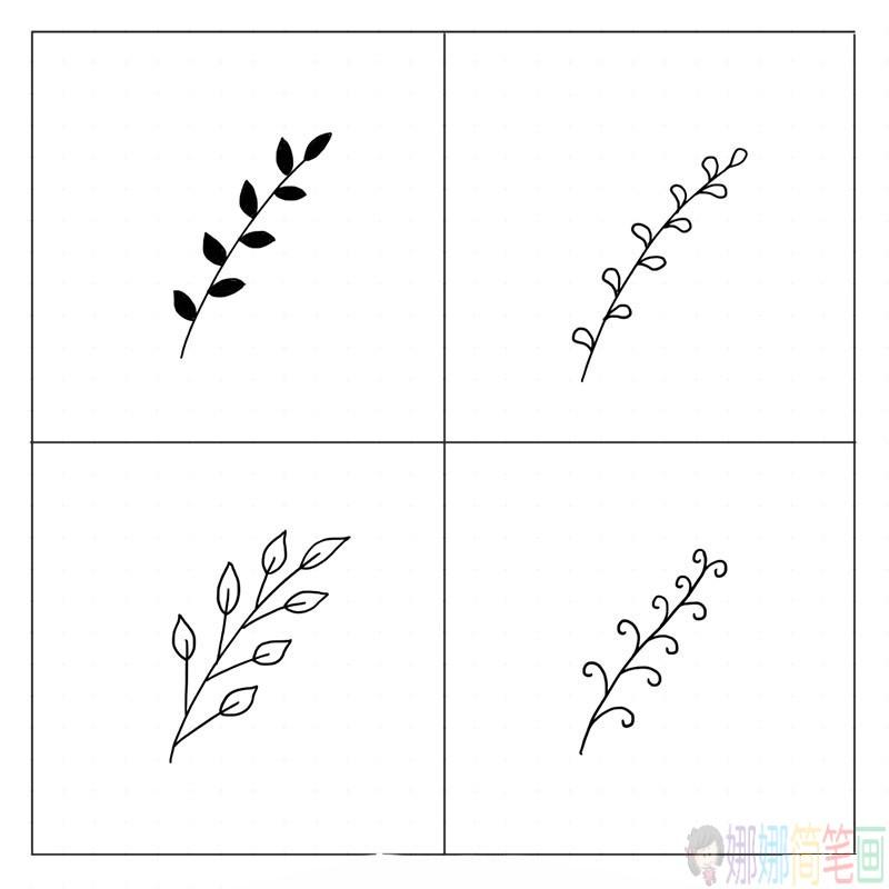 各种树枝简笔画法大全