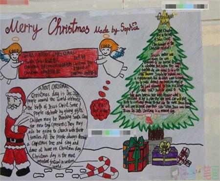 圣诞节由来手抄报