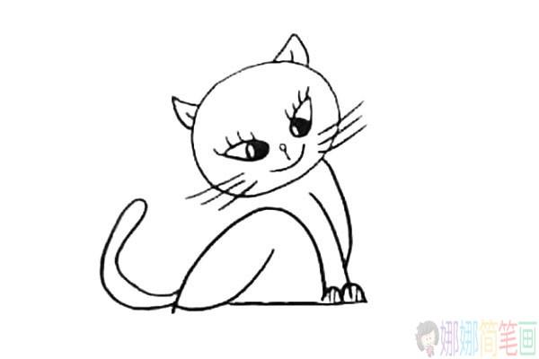 小花猫怎么画,小猫儿童简笔画教程