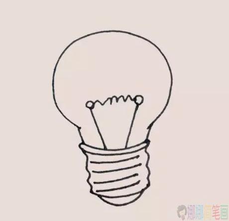 灯泡怎么画,简单的灯泡简笔画