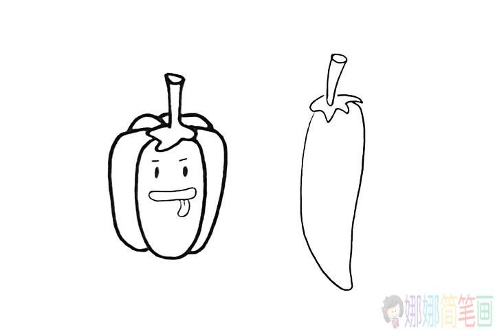 辣椒的画法,辣椒怎么画