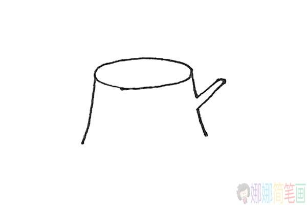 树桩简笔画法,树桩怎么画