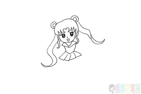 美少女战士简笔画怎么画