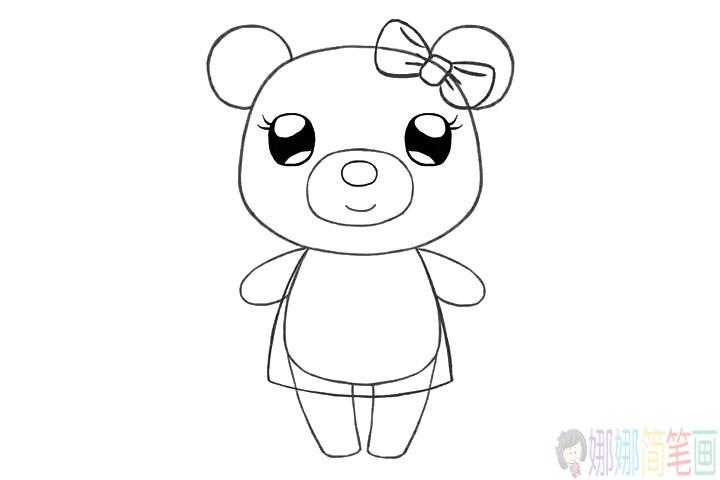 简单几步学画可爱的小熊