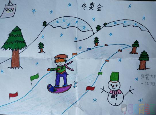 2022年冬奥会儿童绘画获奖作品