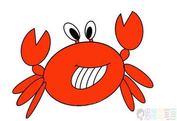 简单好画的螃蟹简笔画图片