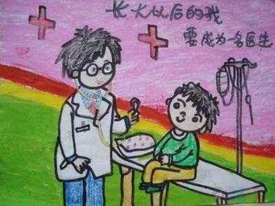 关于抗击肺炎的儿童绘画