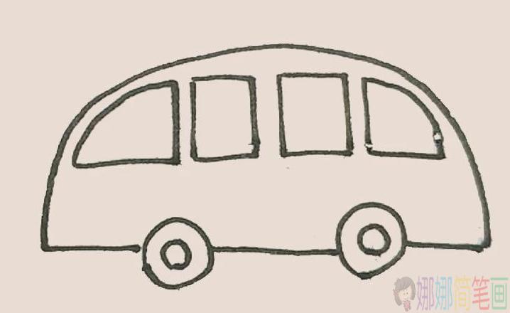 救护车儿童简笔画步骤