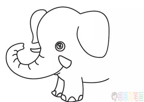 大象儿童简笔画图片