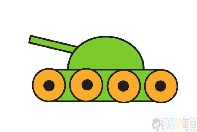 超简单的坦克儿童简笔画法