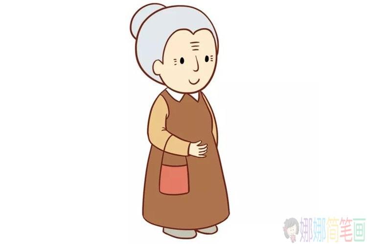 和蔼的奶奶简笔画图片