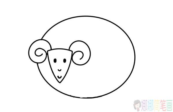 羊的简笔画,简笔画羊图片