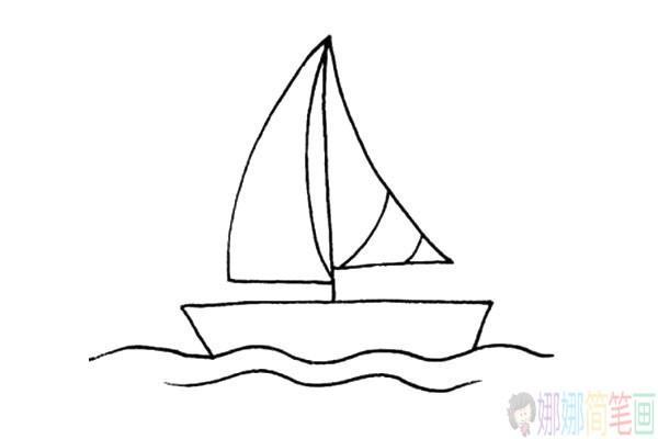 简单的帆船儿童简笔画教程