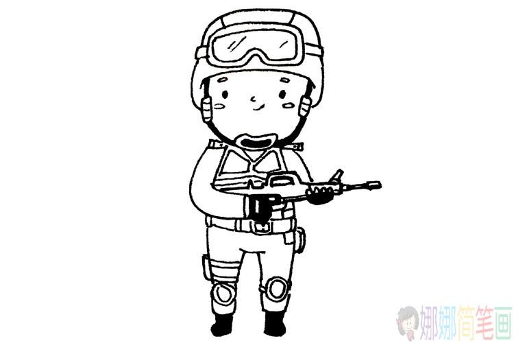 各种蔬菜简笔画大全_威武的中国军人简笔画图片/儿童简笔画
