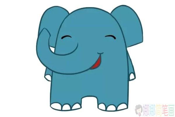三张简单可爱的大象简笔画图片