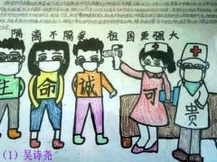 简笔画简单好看易画_关于新冠肺炎的儿童绘画作品/儿童简笔画