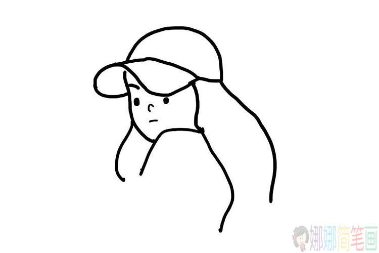 简单易学的小女孩简笔画图片