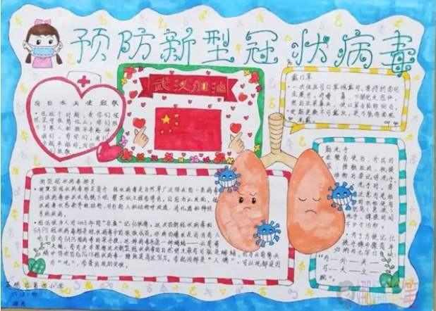 文明城市我先行绘画作品_预防肺炎传染病手抄报/儿童简笔画