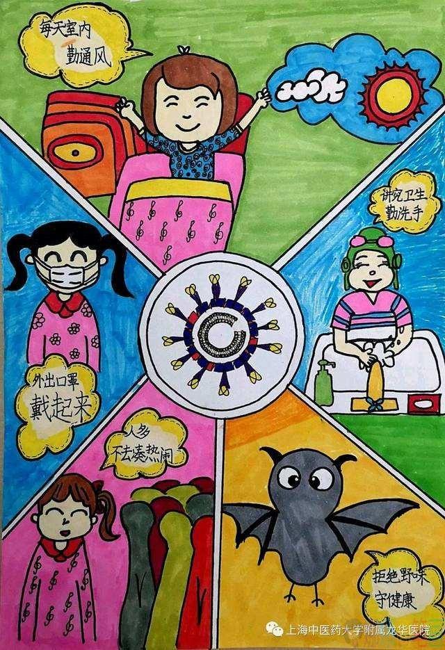 简单好看的简笔画_抗击疫情加油儿童画图片/儿童简笔画