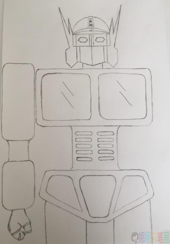 简笔画变形金刚,儿童简笔画变形金刚画法步骤大全