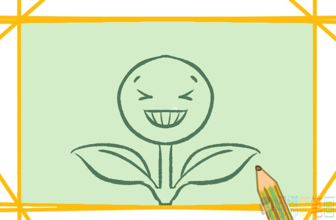 开心的向日葵简笔画要怎么画